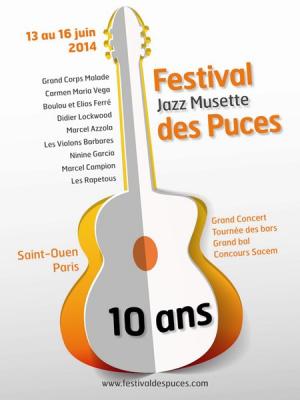 Le Festival Jazz Musette des Puces 2014 dévoile sa programmation
