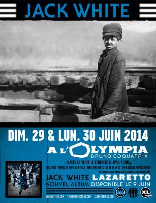 Jack White en concerts à l'Olympia de Paris en juin 2014