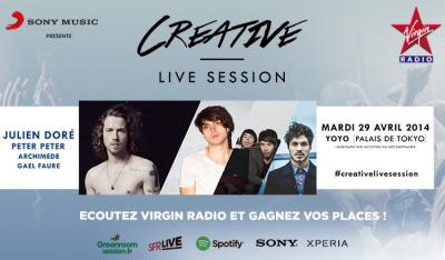 Creative Live Session 2 au Yoyo avec Julien Doré et Peter Peter : gagnez vos places !