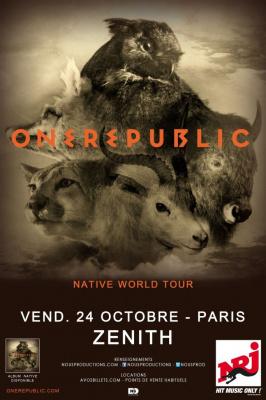 OneRepublic en concert au Zénith de Paris en octobre 201