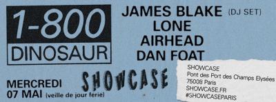 1-800 Dinosaur au Showcase avec James Blake