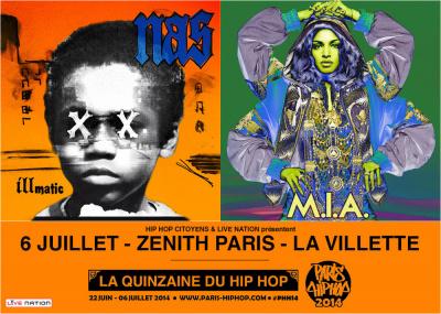Festival Paris Hip Hop 2014 : Nas et M.I.A en concert au Zénith de Paris