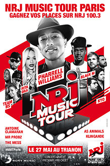 NRJ Music Tour Paris 2014 au Trianon avec Pharrell Williams