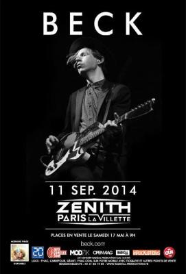 Beck en concert unique au Zénith de Paris en septembre 2014