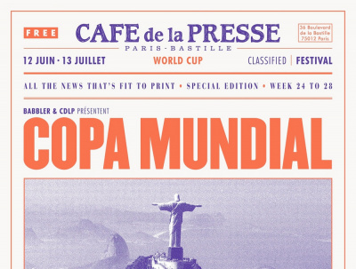 Coupe du Monde de foot 2014 au Café de la Presse