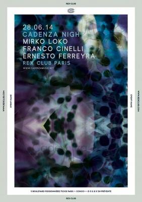 Cadenza Night au Rex Club avec Ernesto Ferreyra