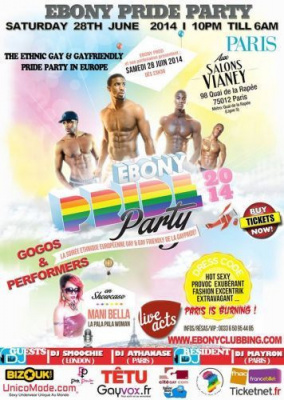 Ebony Pride Party 2014 aux salons Vianey à Paris