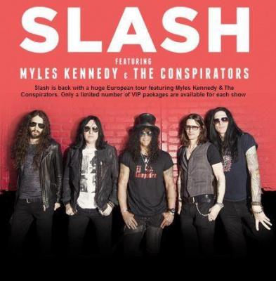Slash feat. Myles Kennedy And The Conspirators en concerts au Zénith de Paris en 2014