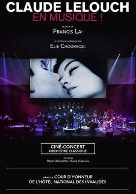 Claude Lelouch en musique : ciné-concert dans la Cour d'honneur des Invalides