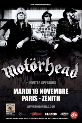 Motörhead en concert au Zénith de Paris en novembre 2014