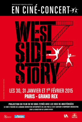 West Side Story : le ciné concert au Grand Rex de Paris en 2015