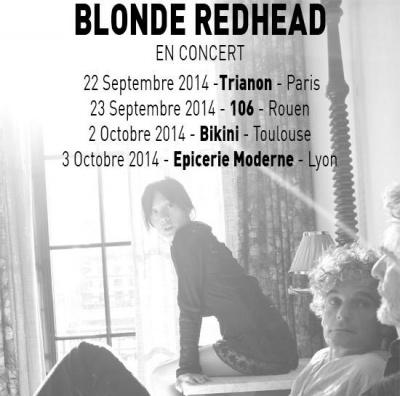 Blonde Redhead en concert au Trianon de Paris en septembre 2014