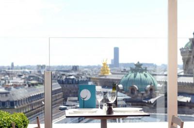 Le Caffè Burlot sur la terrasse des Galeries Lafayette