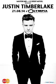 Justin Timberlake en concert à l'Olympia de Paris cet été