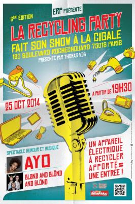La Recycling Party 2014 fait son show à La Cigale avec Ayo