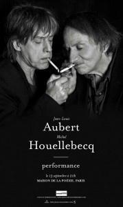 Jean-Louis Aubert et Michel Houellebecq à la Maison de la Poésie
