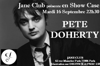 Pete Doherty en showcase au Jane Club le 16 septembre 2014
