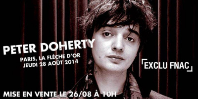 Pete Doherty en concert surprise à la Flèche d'Or le 28 août