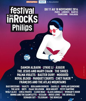 Festival Les Inrocks Philips 2014 à Paris  : programmation, dates et réservations