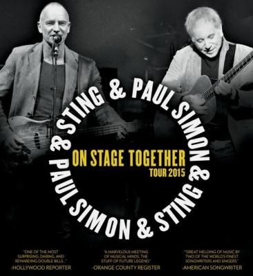 Sting et Paul Simon « On Stage Together » au Zénith de Paris en 2015 !