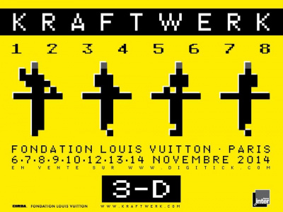 Kraftwerk en concerts à la Fondation Louis Vuitton à Paris en novembre 2014