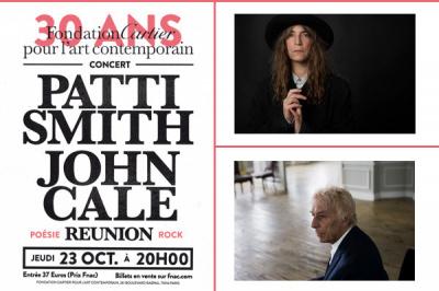 Patti Smith & John Cale en concert pour les 30 ans de la Fondation Cartier