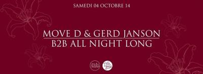 Move D & Gerd Janson B2B All Night Long au Zig Zag Club