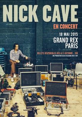 Nick Cave en concert au Grand Rex de Paris en mai 2015