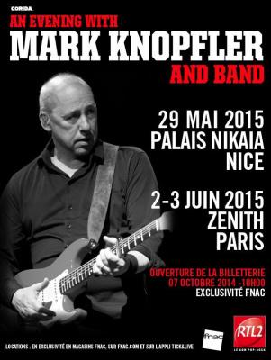 An Evening with Mark Knopfler and Band au Zénith de Paris en 2015