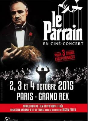 Le Parrain en ciné-concert au Grand Rex de Paris en octobre 2015