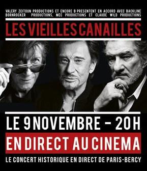 Les Vieilles Canailles : retransmission du concert en direct au cinéma
