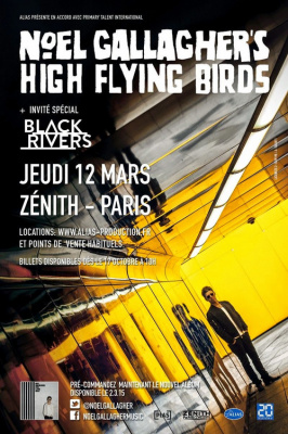 Noel Gallagher's High Flying Birds en concert au Zénith de Paris en mars 2015