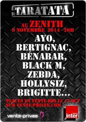 Taratata de retour au Zénith de Paris le dimanche 9 novembre 2014