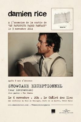 Damien Rice en showcase privé au Chalet des îles