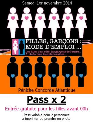 Filles, Garçons : Mode d'Emploi, spécial Halloween 2014 au Concorde Atlantique