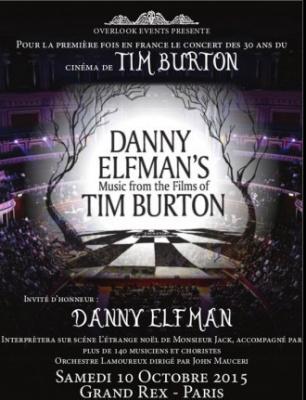 Danny Elfman's Music from the films of Tim Burton au Grand Rex de Paris en 2015