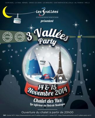 « 3 Vallées Party » au Chalet des Iles à Paris