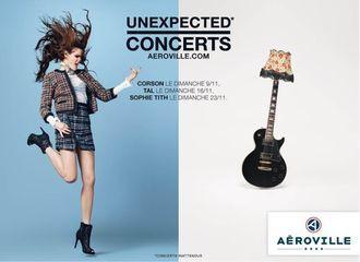 Concerts gratuits à Aéroville avec Tal, Corson et Sophie Tith