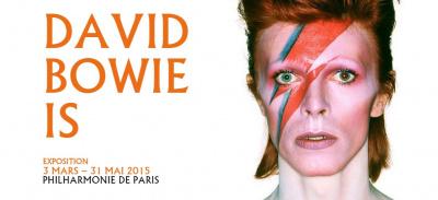 """Exposition """"David Bowie Is"""" à la Philharmonie de Paris en 2015"""
