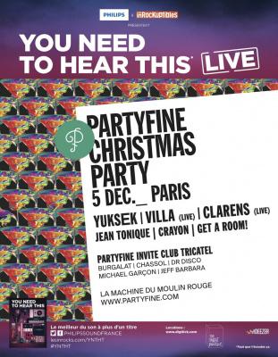 Partyfine Christmas Party à la Machine du Moulin Rouge