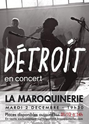 Bertrand Cantat en concert à La Maroquinerie de Paris avec Détroit