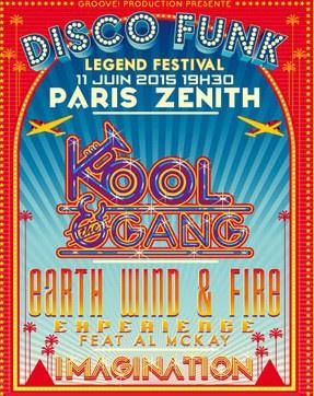 Disco Funk Legend Festival au Zénith de Paris en 2015