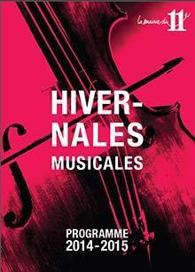 Les Hivernales musicales : concerts gratuits dans le 11e