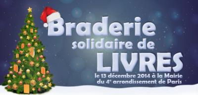 Grande Braderie solidaire de Noël 2014 à la Mairie du 4ème arrondissement