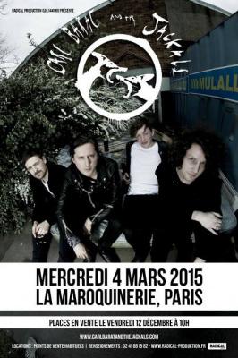 Carl Barât and The Jackals en concert à La Maroquinerie de Paris en 2015