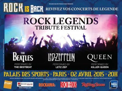 Rock Legends Tribute Festival au Palais des Sports de Paris en 2015