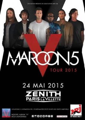 Maroon 5 en concert au Zénith de Paris en mai 2015