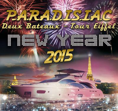 Réveillon du nouvel an 2015 sur les bateaux Tivano et Mistral