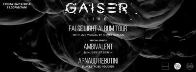 """Gaiser """"False Light Album Tour"""" au Zig Zag Club"""