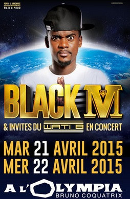 Black M et invités du Wati B à l'Olympia de Paris en avril 2015